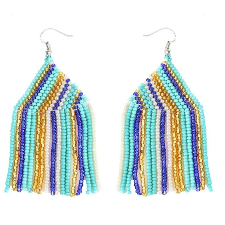 Embera Earrings Sea Glass