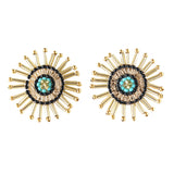 Burst Earring Black