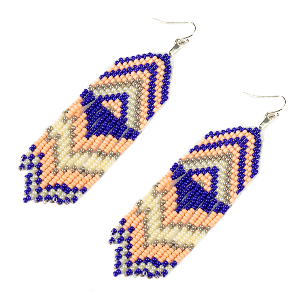 Embera Earrings Exito Coral