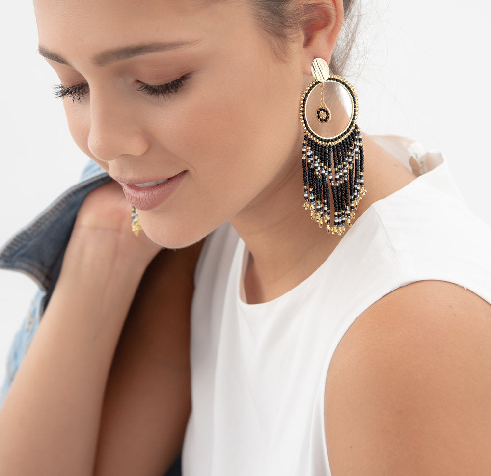 Perla Earring Black