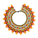 Embera Necklace Collar Flame