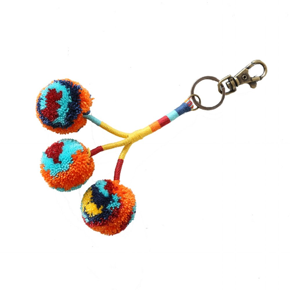 Pom Key Fob Rust Multi
