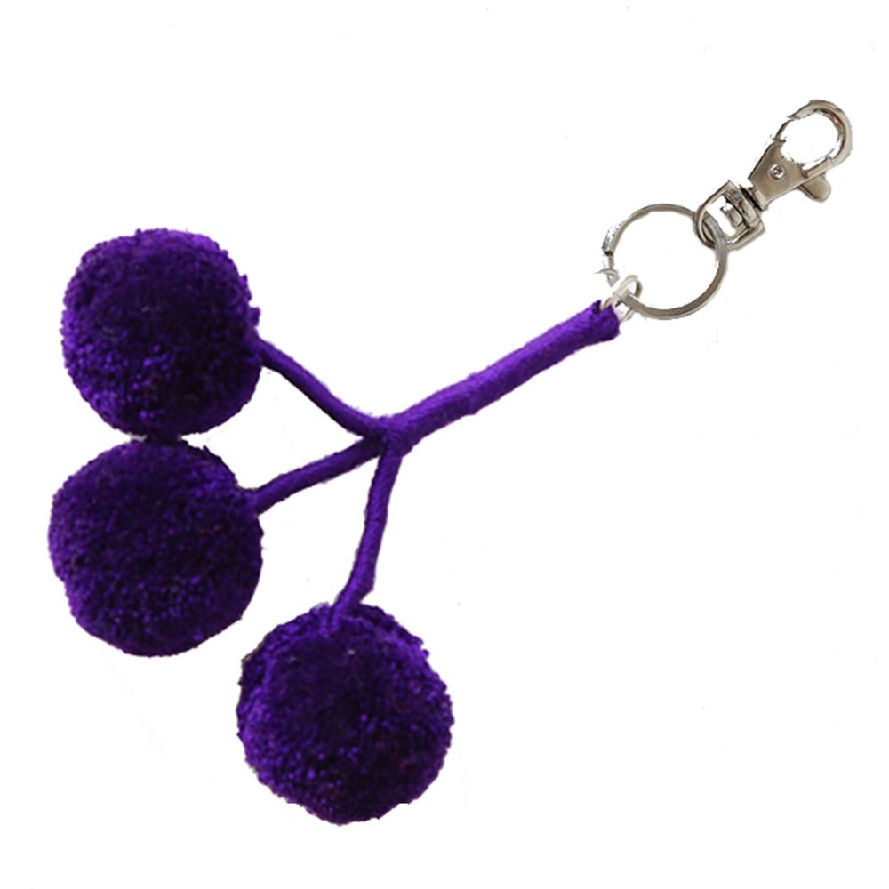 Pom Key Fob Purple