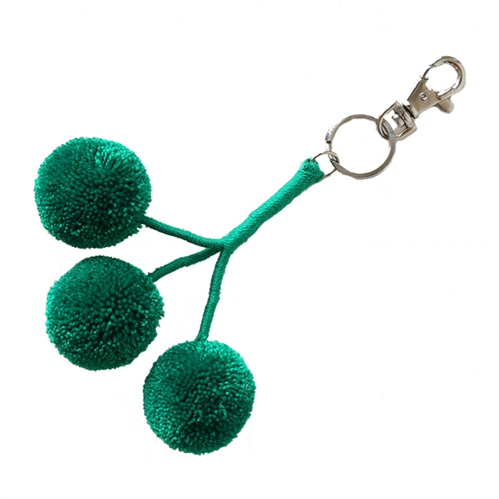Pom Key Fob Evergreen