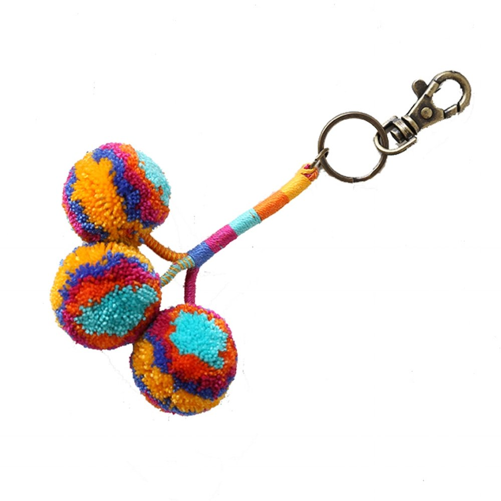 Pom Key Fob Maize Multi