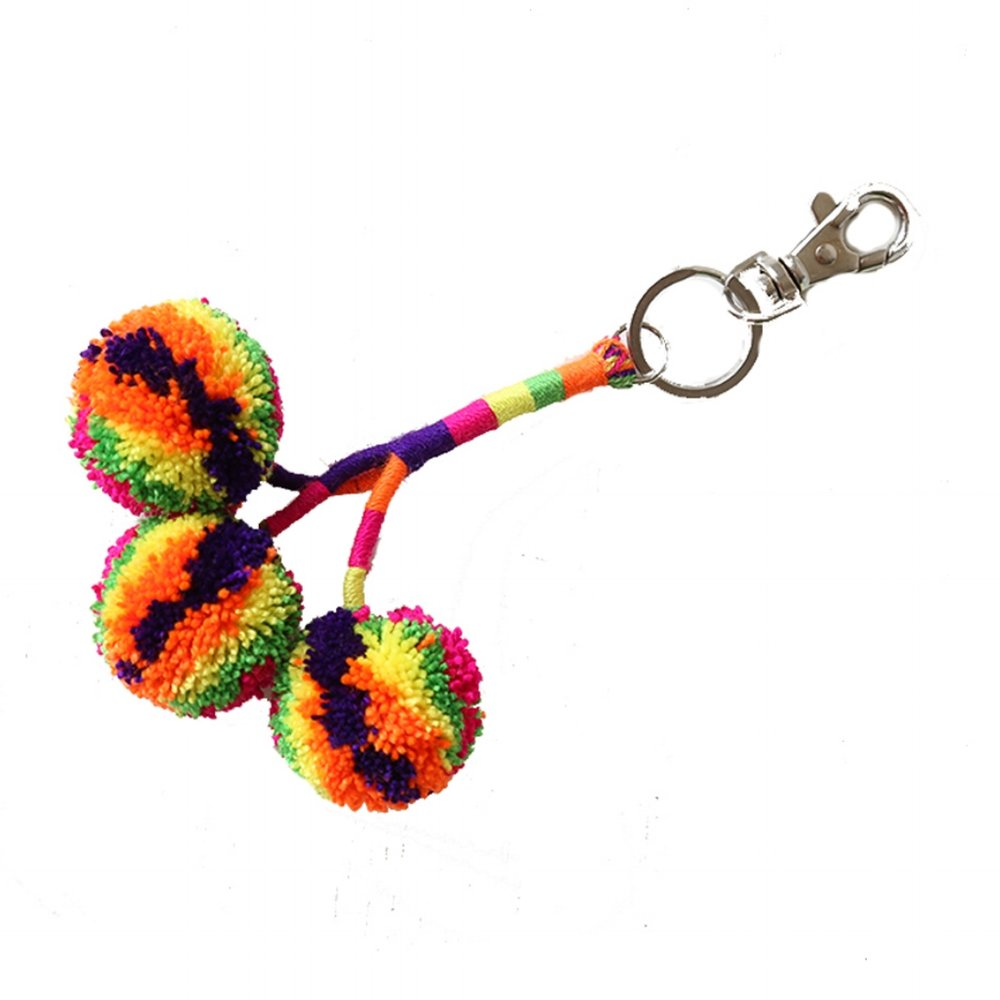 Pom Key Fob Orange Multi