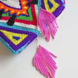 Raya Fuchsia Earrings
