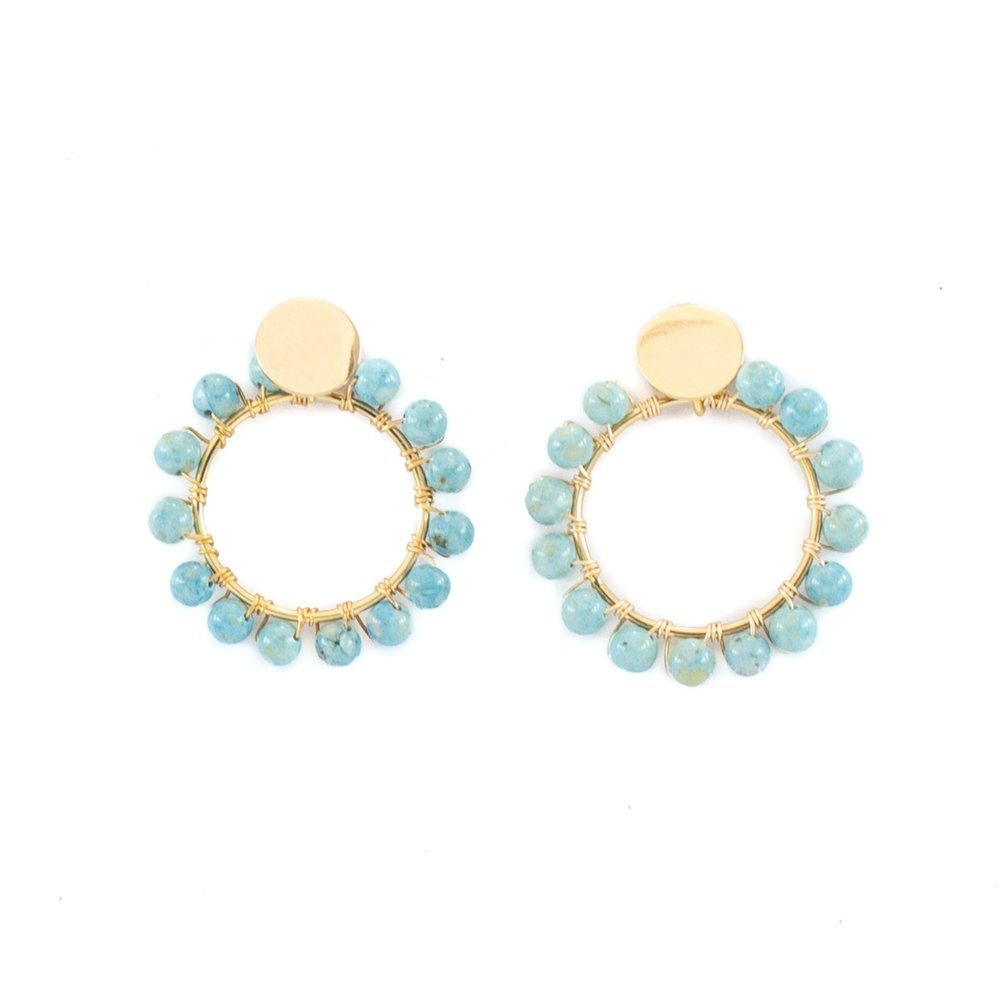 Circle Earring Turquoise