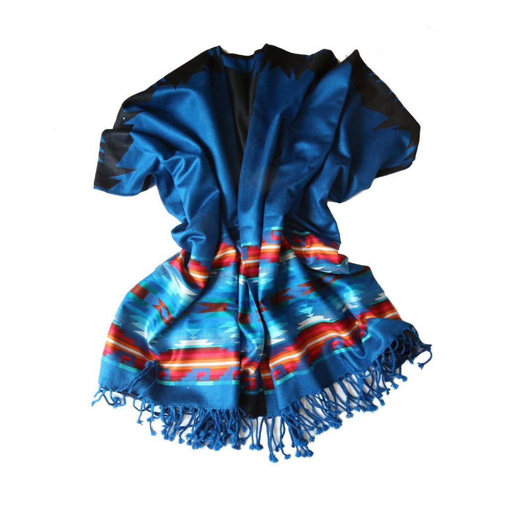 Cool Blue Ruana Poncho