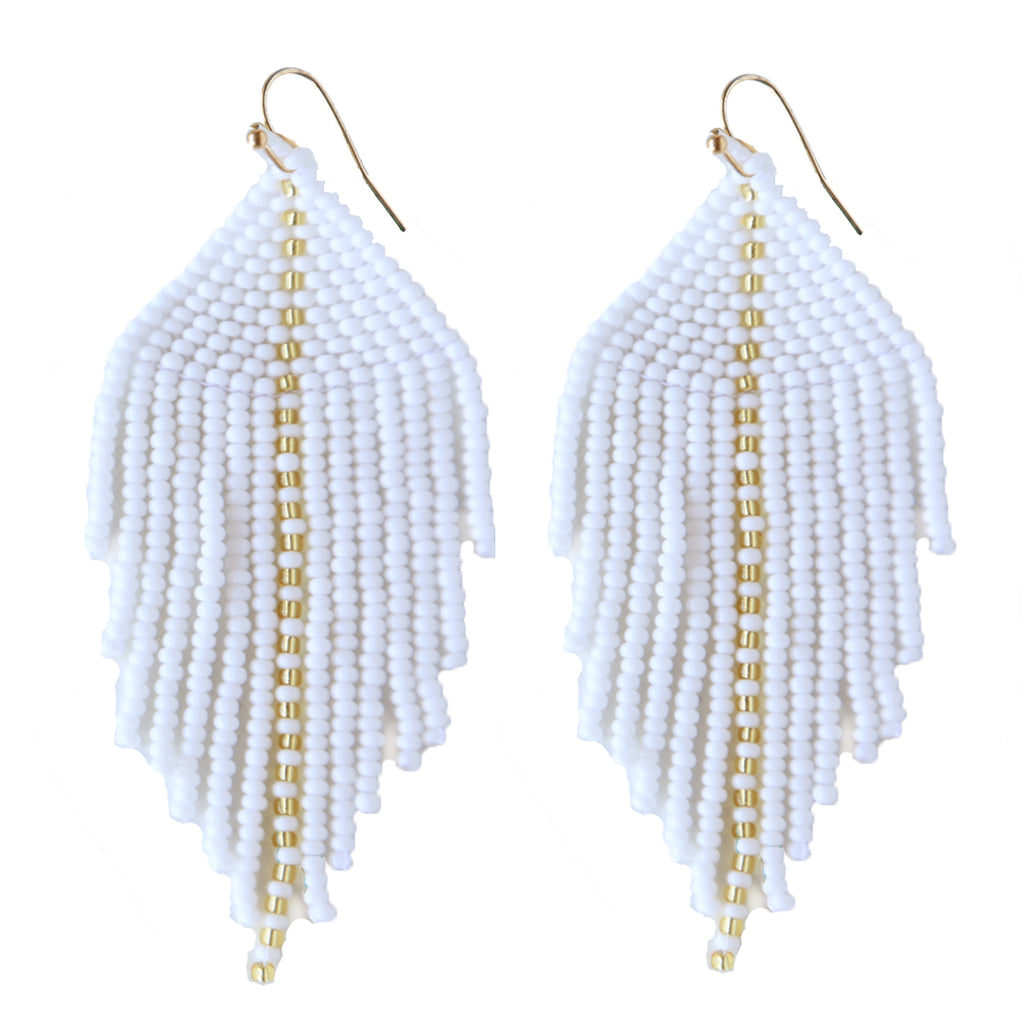 Raya White Earrings