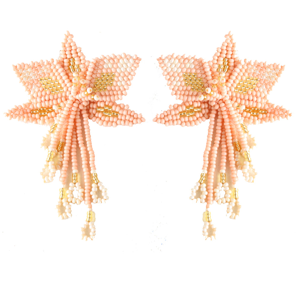Pink Orchid Earring