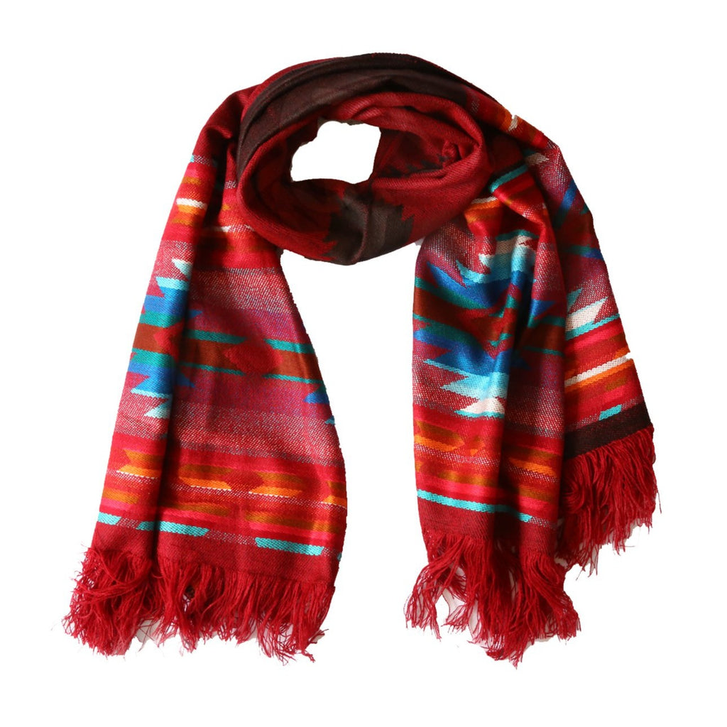 Red Ruana Scarf