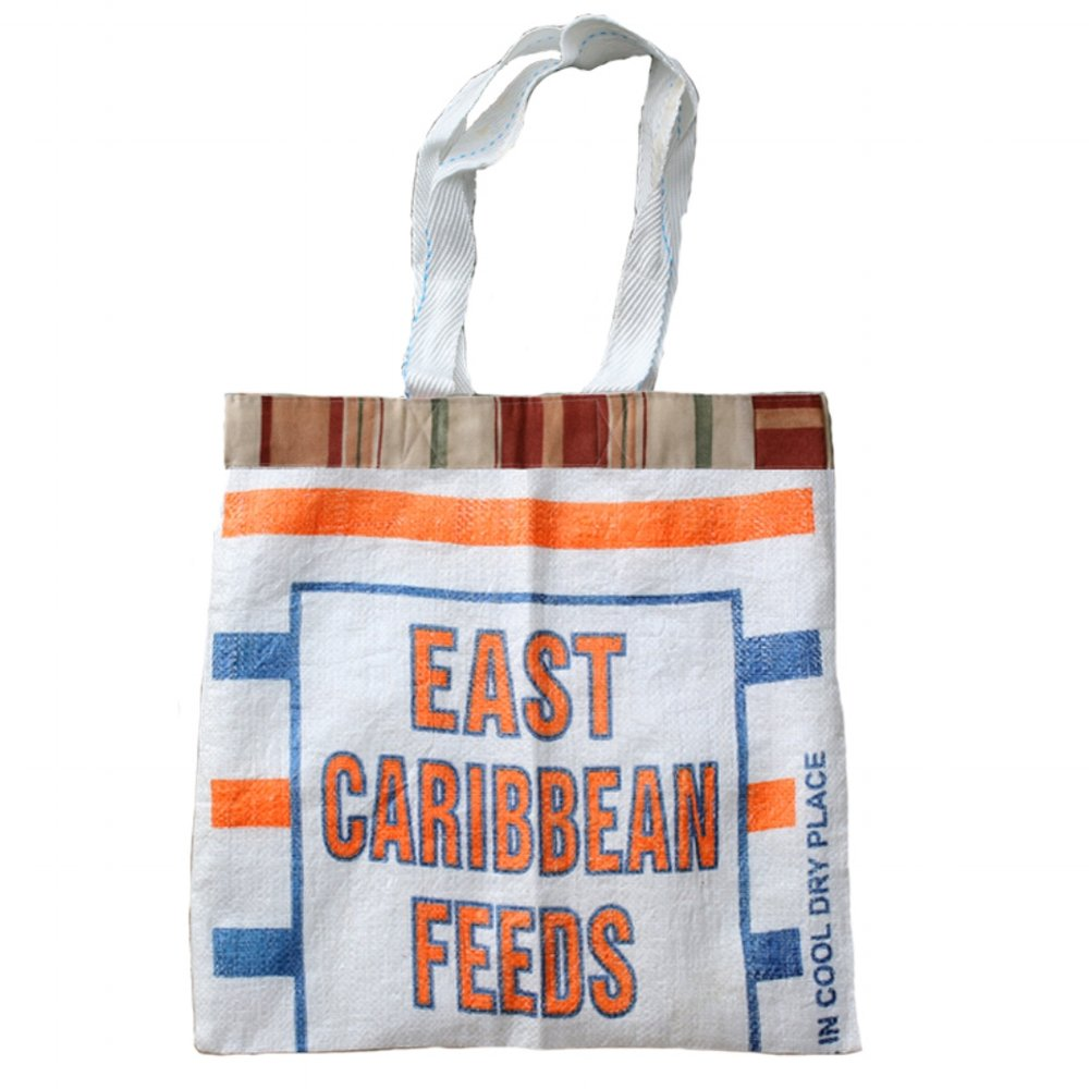 Feed Sack Tote - Natural Block