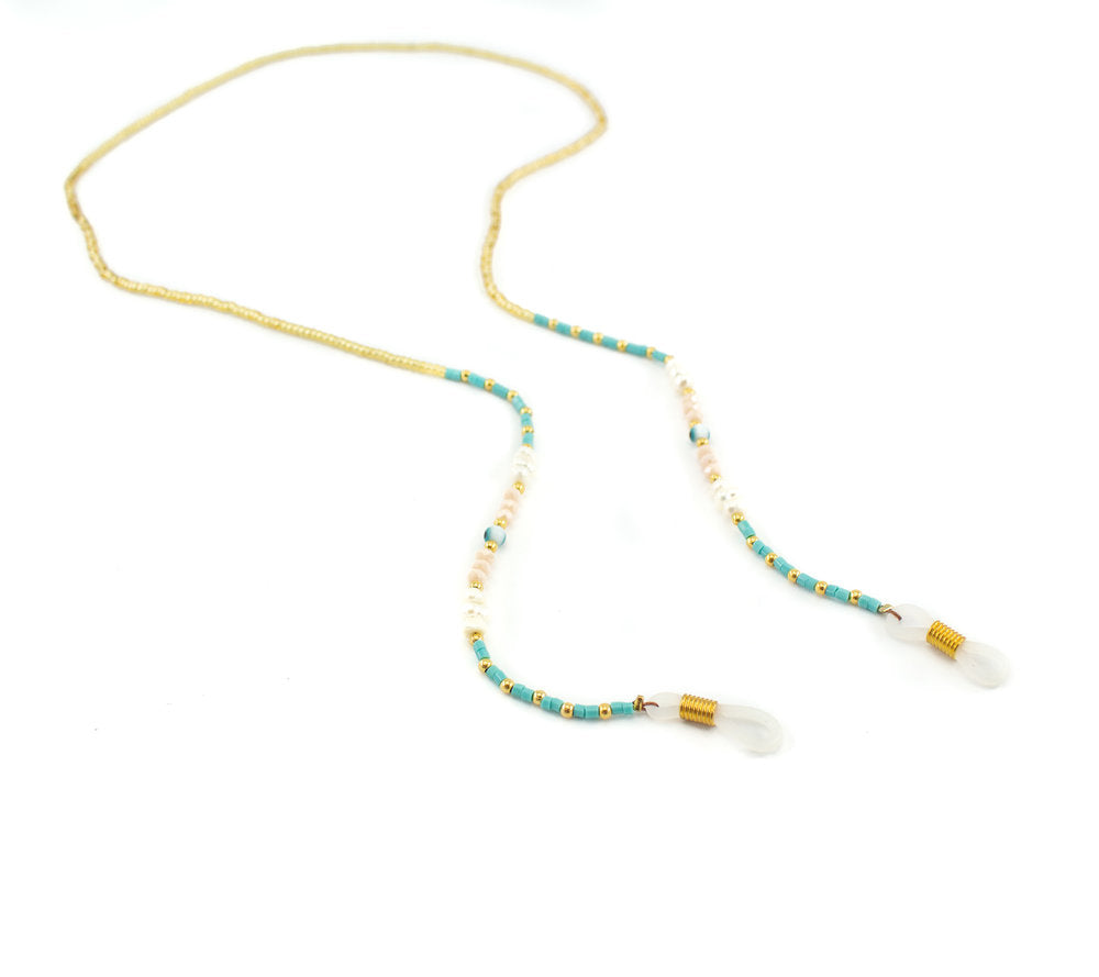 Turquoise Bead Glasses Chain