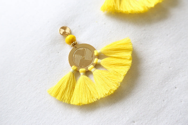 Sol Tassel Earring - Yellow