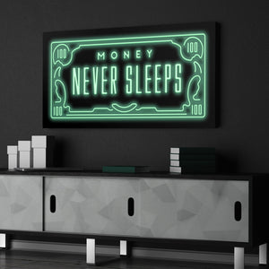 """MONEY NEVER SLEEPS"" - tablostore"