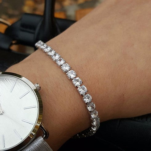 Tennis Bracelet - 4mm Cubic Zirconia