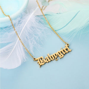 Old English Necklace (Babygirl,Princess,Honey,Angel)