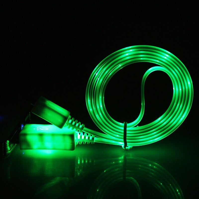 LED Flowing Phone Charger for iPhone, Samsung, Android