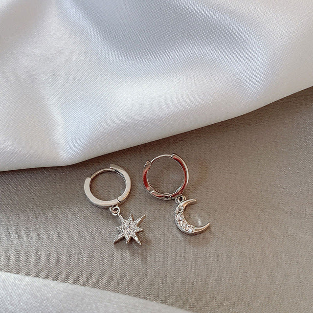 Star + Moon Earrings