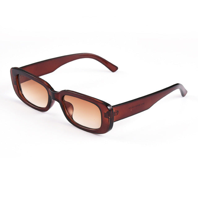 Rectangular Frame Sun Glasses