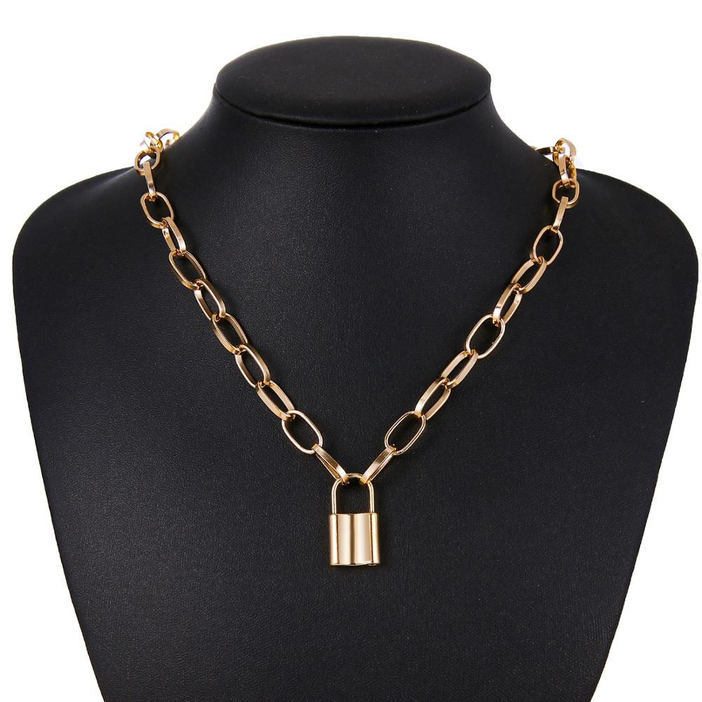 Lock and Chain Necklace