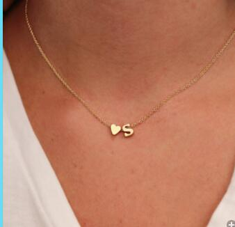 Heart  + Initial Necklace