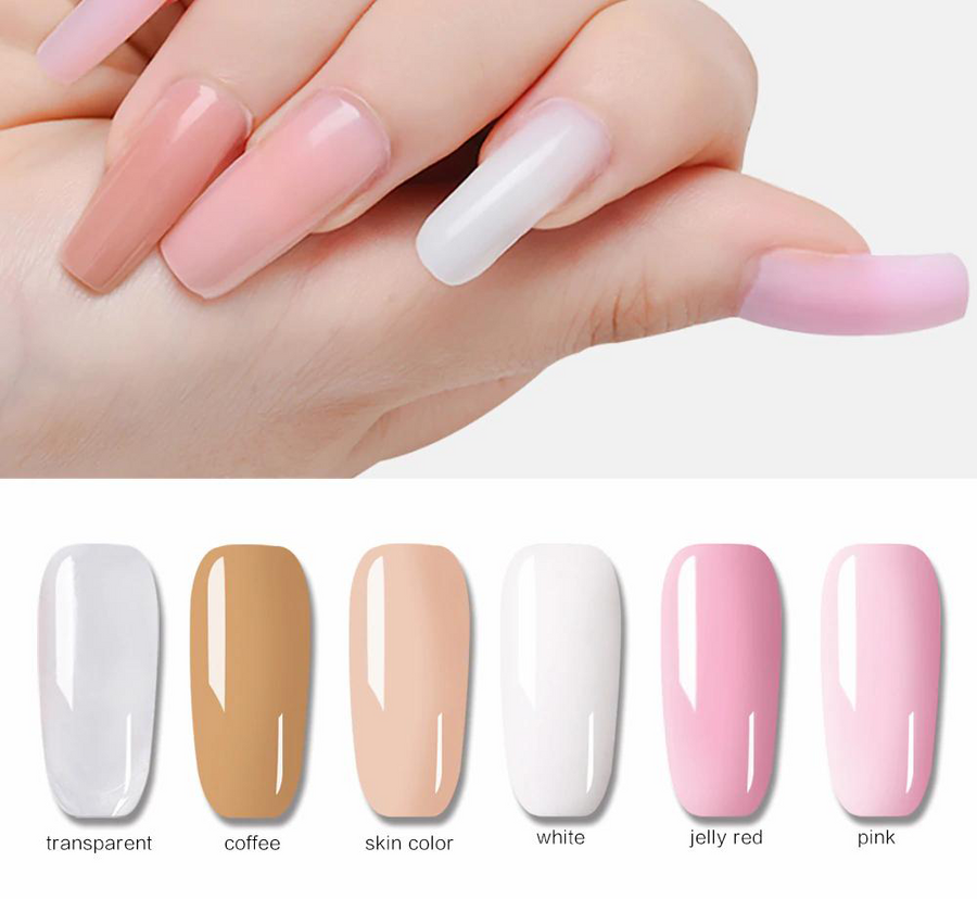 Poly Gel UV LED Builder Gel for nail Extensions