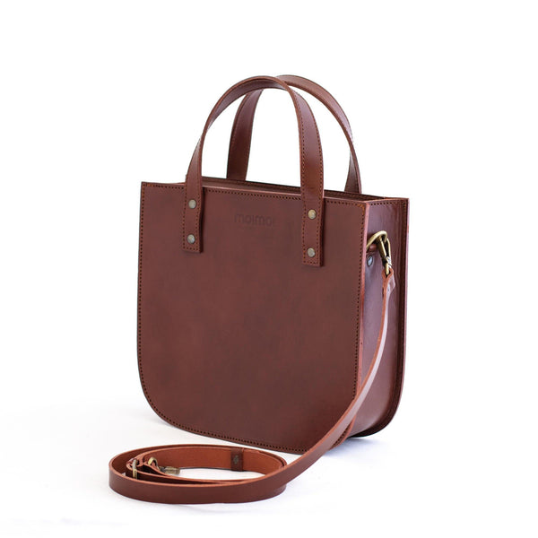 ISABEL tote bag in brown - TREASURES - MOIMOI accessories