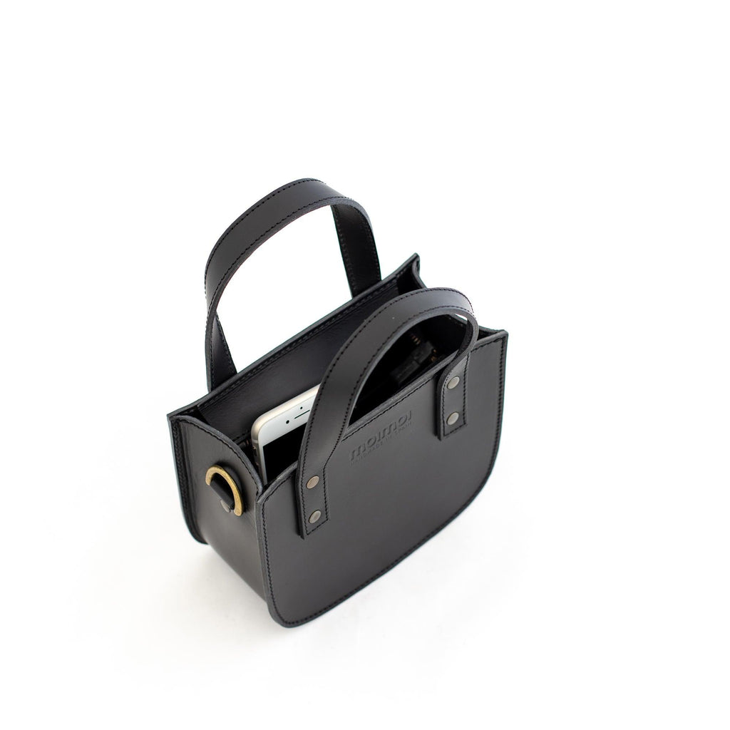 ISABEL small tote bag in black - MOIMOI accessories