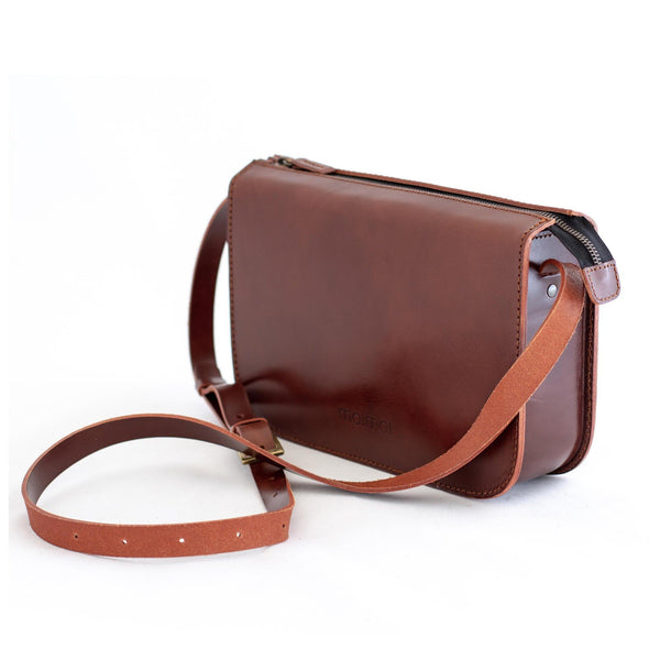 LAURA handbag in brown - MOIMOI accessories