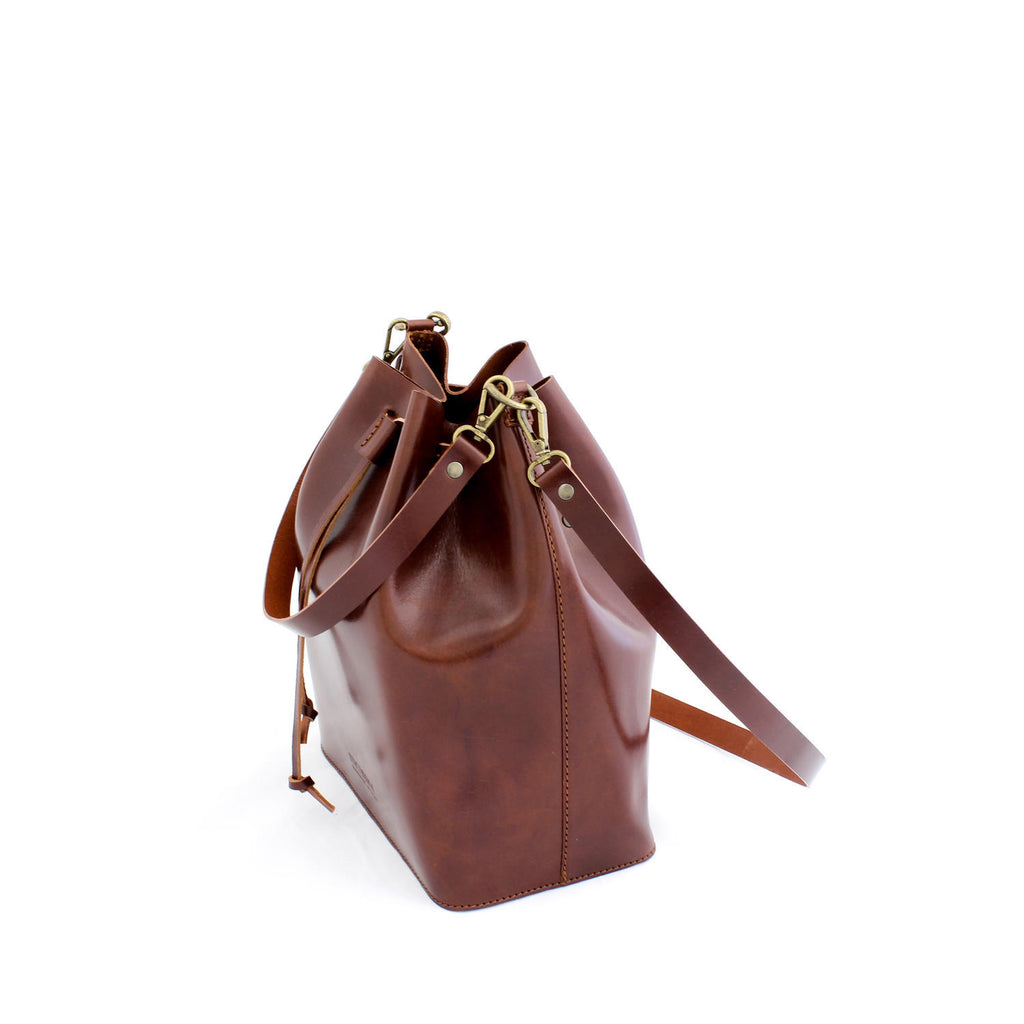 MARILIN bucket bag in brown - MOIMOI accessories