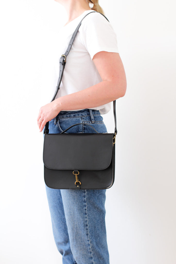 MONO satchel bag in black - TREASURES - MOIMOI accessories