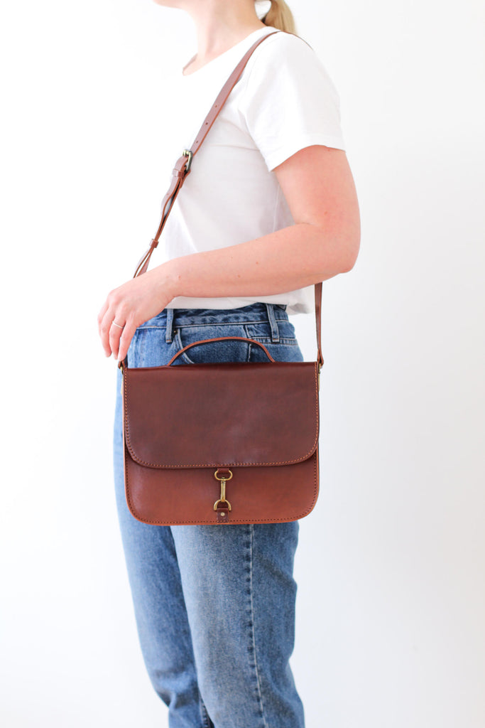 MONO satchel bag in brown - ON DISPLAY - MOIMOI accessories