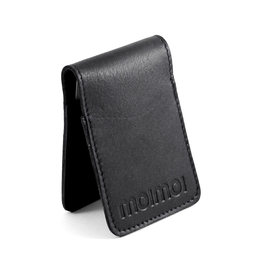 PETTERI leather card wallet in black - MOIMOI accessories