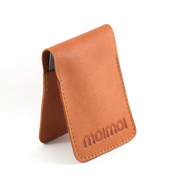 PETTERI leather card wallet in cognac - MOIMOI accessories