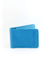 PETTERI leather card wallet in turquoise - MOIMOI accessories