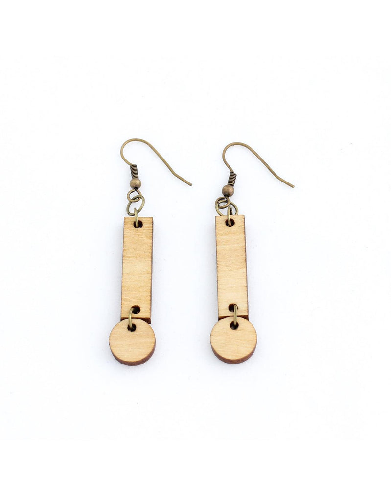 CERILLA earrings in light wood - MOIMOI accessories