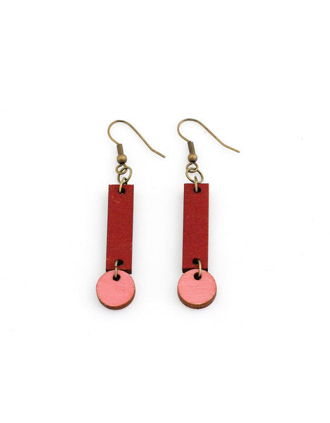 CERILLA earrings in red and pink - MOIMOI accessories