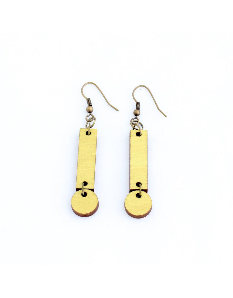 CERILLA earrings in yellow - MOIMOI accessories