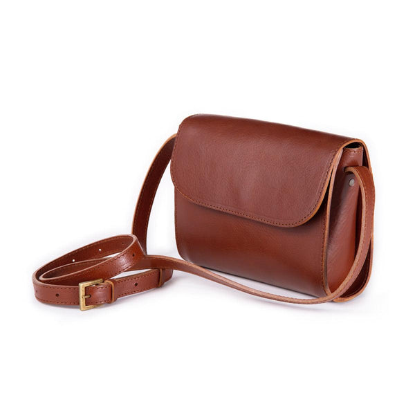 ELVI cross body bag in brown (grain leather) - MOIMOI accessories