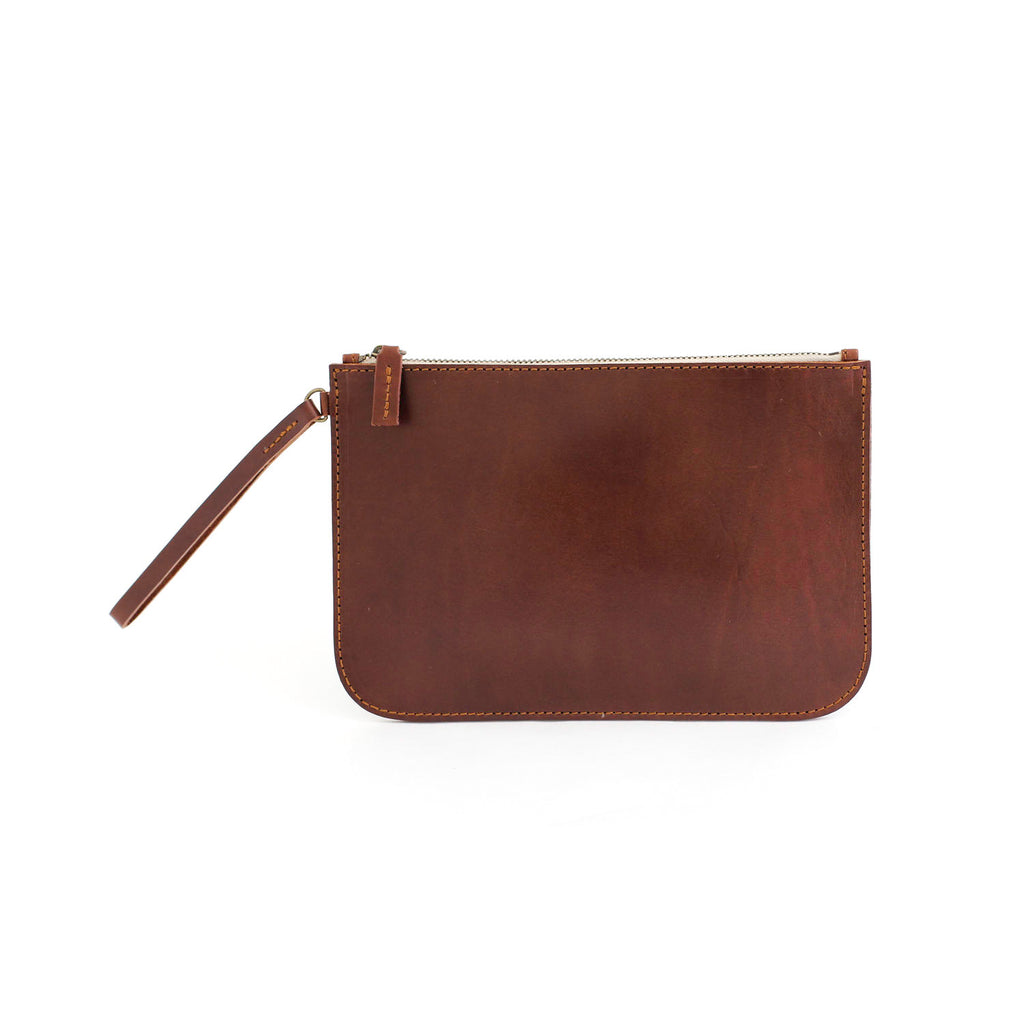 MARIA clutch bag in brown - TREASURES - MOIMOI accessories