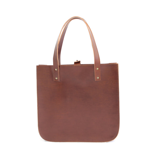 SILVIA tote bag in brown - TREASURES - MOIMOI accessories