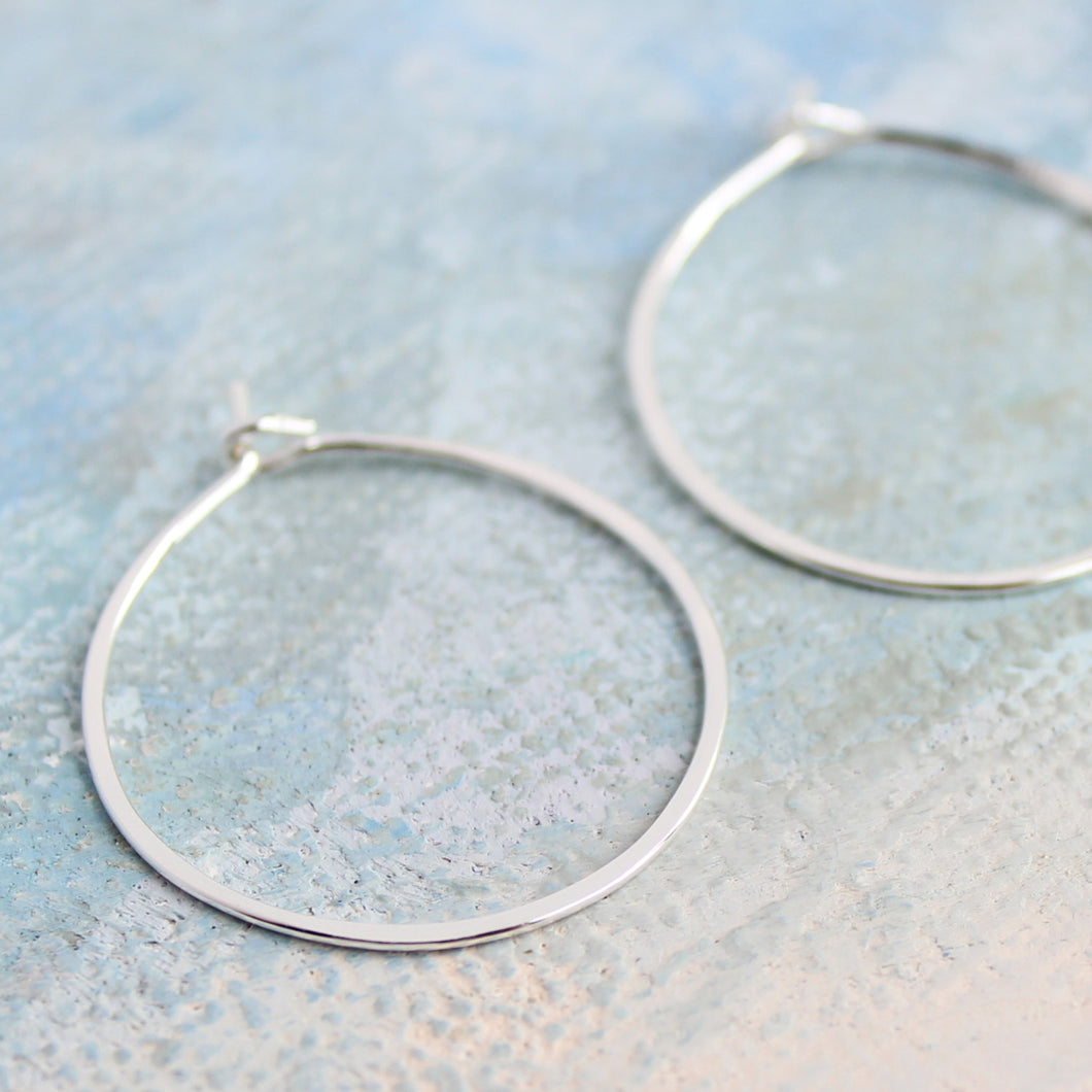 Silver Hoop Earrings Small Sterling Silver 1