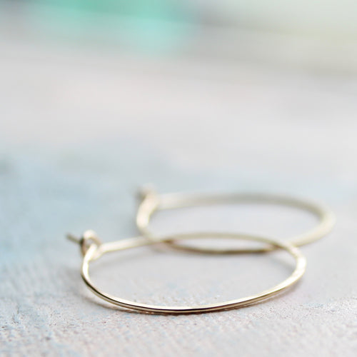 Small Gold Hoop Earrings, 1