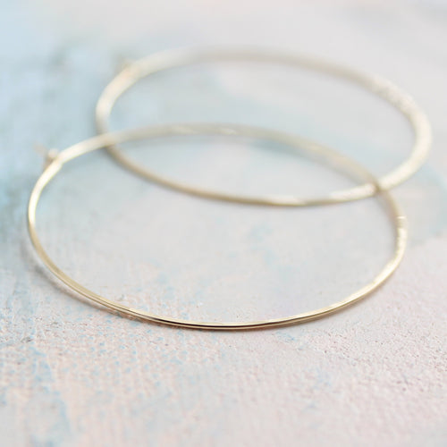 Thin Gold Hoop Earrings, Large Hoop Earrings 2
