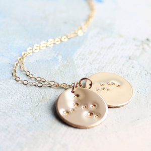 Multiple Zodiac Constellation Necklace, Gold Mothers Necklace, Personalized mothers necklace, new baby gift, new mother gift, mom necklace