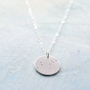 Personalized jewelry, Zodiac Constellation Necklace, Aquarius necklace, zodiac charm, star sign pendant