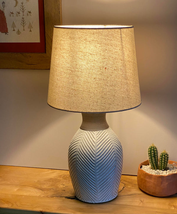 Modern rustic table lamp