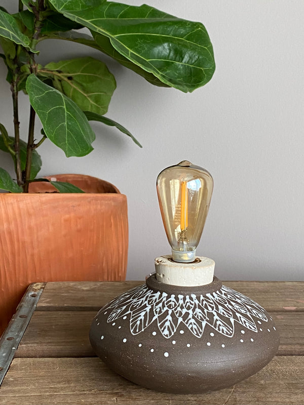 Modern rustic accent lamp